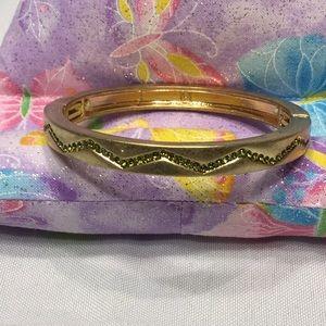Lia Sophia Gold bracelet with Lt Green(peridot)